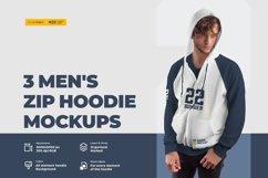 3 Men's Zip Hoodie Mockups Product Image 1