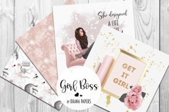 GIRL BOSS Digital Paper Pack - Fashion Illustration Patterns Product Image 3
