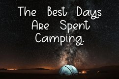 Campers Gonna Camp - A Fun Hand-Written Font Product Image 3