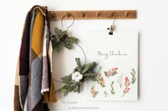 Merry Christmas - Watercolor Christmas Clipart Product Image 2