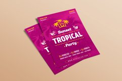 Sunset Tropical Party Flyer Product Image 2
