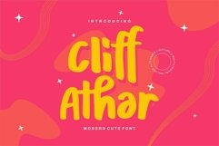 Web Font Cliff Athar - Modern Cute Font Product Image 1