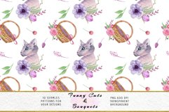 Funny Cats Seamless Patterns, Seamless backgrounds Product Image 9