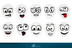 Cartoon Faces Comics AD Vectors Product Image 2