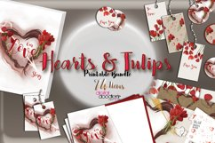 Hand Painted Hearts & Tulips Bundle Product Image 4