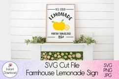 Farmhouse Lemonade Sign SVG l Ice Cold Lemonade Cutfile Product Image 6