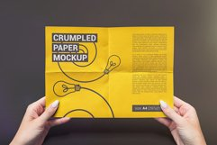 Crumpled A4 Paper / Poster / Flyer Mockup Product Image 4