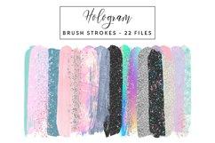 Hologram Brush Strokes Clip Art Product Image 1