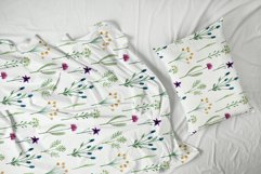 Watercolor Wildflowers. Patterns Product Image 4