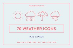 Line Icons - Weather Product Image 1