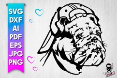 Dog in a snapback. Sport puppy svg Product Image 1