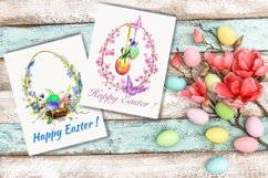 Watercolor Easter arangaments, Easter cards for printable Product Image 6