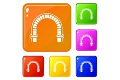Arch column icons set vector color Product Image 1