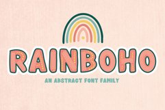 Rainboho   A Layered Abstract Font Family Product Image 1