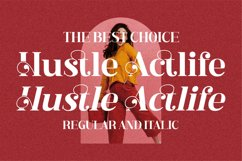 Hustle Actlife - Beautiful Serif Font Product Image 18