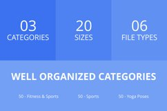 150 Fitness & Sports Filled Line Icons Product Image 2