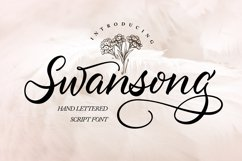 Swansong   Handlettered Script Font Product Image 1