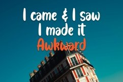 Web Font Awkward - Handlettering Font Product Image 3