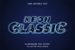 Neon classic - Text Effect Product Image 1