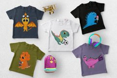 Nursery funny dinosaurs clipart and graphic illustration png Product Image 2