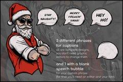Naughty Santa, Christmas T Shirt Design, Christmas Clipart Product Image 2