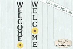 Welcome Sunflower Vertical Porch Sign SVG Cut File Product Image 2