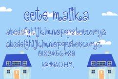Cute Malika - Cute and Fun Handwritten Font Product Image 4