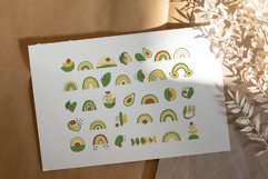 Avocados and Rainbows Clipart, Abstract Shapes, EPS, PNG Product Image 6