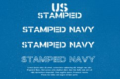 Stamped Navy Font Product Image 1