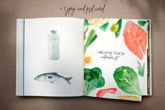 Organic Food. Watercolor Clipart Set Product Image 3