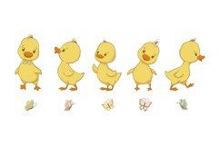 Cute Ducklings, PNG, EPS, JPG, 300 DPI Product Image 3