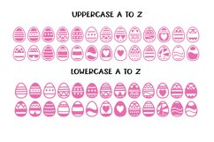 Easter Egg Dingbats - smooth cuttable easter egg doodles Product Image 2