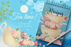 Peony Poem - Tea Time with swans & flowers Product Image 5