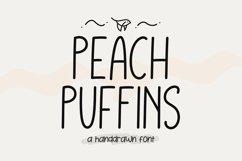 Peach Puffins - Monoline Product Image 1