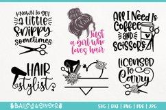Hairdresser SVG Bundle | Hair Stylist & Hair Salon SVG Files Product Image 2