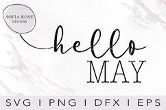 hello SVG, Hello May SVG, Calendar SVG, Digital Cut Files Product Image 1