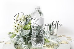 Styled Stock Photo Party Water Bottle Label PSD/JPEG Mockup Product Image 1