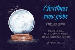 Christmas SnowGlobe Mockup Watercolor clipart Product Image 1