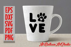 Paw Print Svg Love Paw Svg Love Dog Svg Paw Print Dog Svg Product Image 3