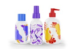 Textural abstract shapes and leaves Product Image 10