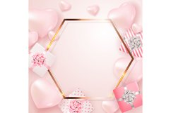 Valentine's Day Background Template Card Design Product Image 2