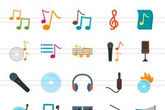 50 Music Flat Multicolor Icons Product Image 2