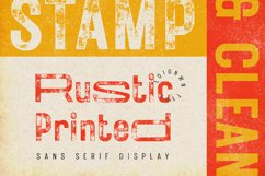 Rustic Printed - Vintage Font Product Image 1