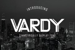 Web Font Vardy Display Typeface Product Image 1