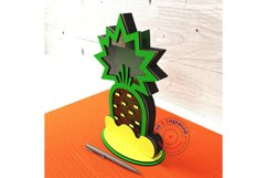 Pineapple shaped bank design. Glowforge ready vectors. Product Image 2