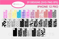 29 iPhone 12 Pro SVG Designs| Phone Case Decals Product Image 1
