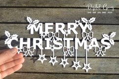 Merry Christmas paper cut SVG / DXF / EPS files Product Image 1