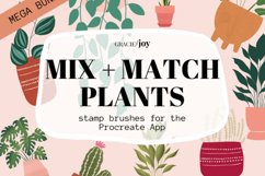 Mix and Match Plants Procreate Stamp Brush Product Image 1
