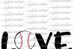 Love Baseball SVG, DXF, PNG Product Image 3