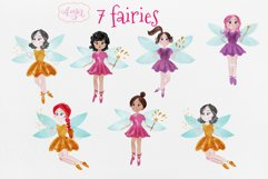 Watercolor fairy clipart for invitations, magical clipart Product Image 4